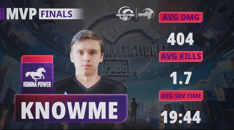 KnowMe, PUBG Mobile World Invitational West'in MVP'siydi