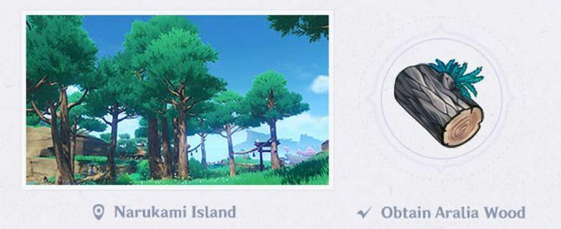 Aralia Wood in Genshin Impact 2.0 (Image via Mihoyo)