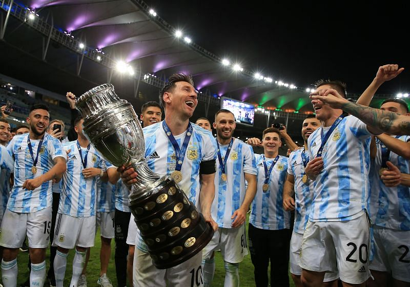 Lionel Messi won the Copa America with Argentina. (Photo by Buda Mendes/Getty Images)