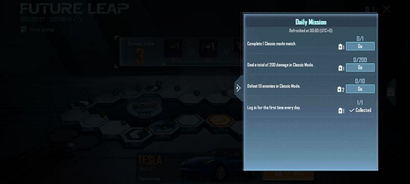 The Future leap event missions