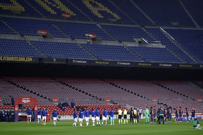 The Coronavirus pandemic forced FC Barcelona to play in front of empty stadiums