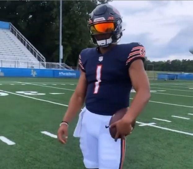 Bears rookie QB Justin Fields - courtesy Instagram