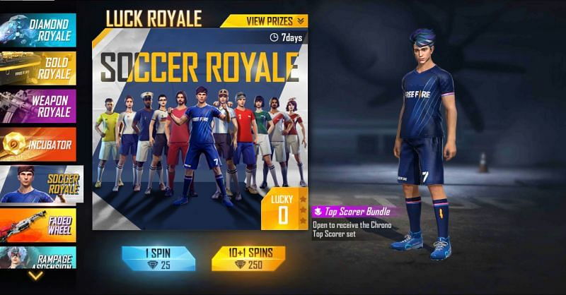The Soccer Royale will end on July 12th