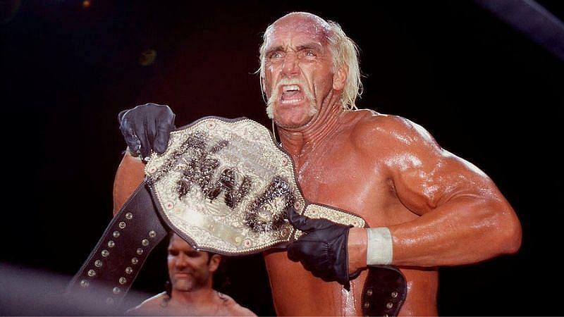 Hulk Hogan with WCW Championship