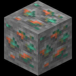 Copper ore. Minecraft Wiki