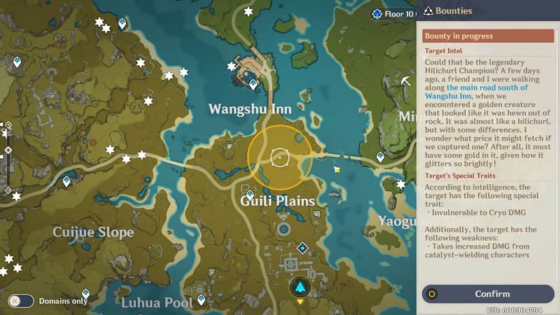 Bounty region marked on the map (image via OneAuEight)