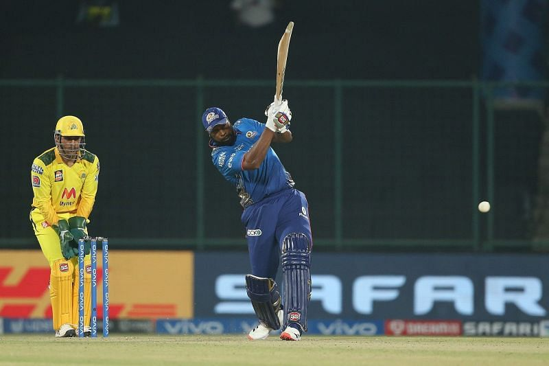 Kieron Pollard played one of the most excellent knocks of his career against CSK in IPL 2021 (Image Courtesy: IPLT20.com)