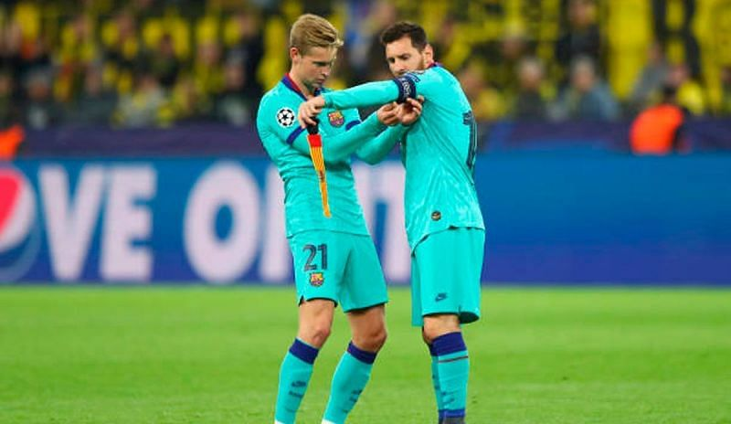 Frenkie de Jong has played with Lionel Messi (right) at Barcelona