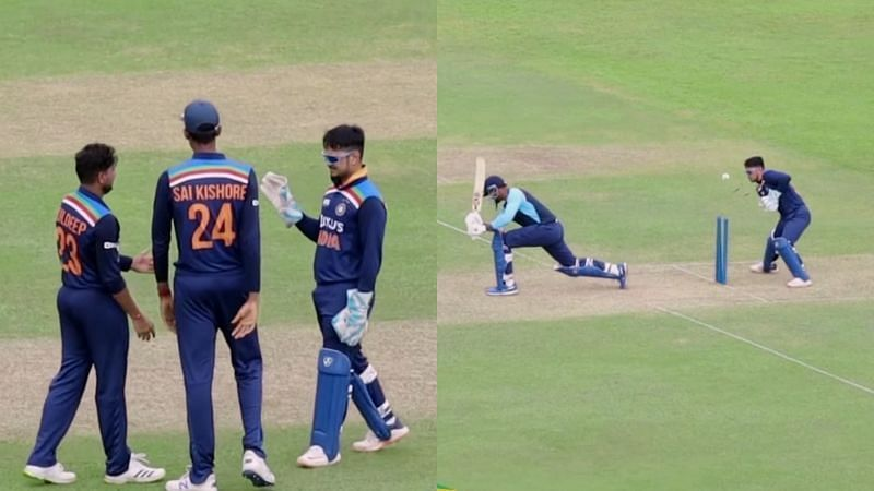 इंट्रास्क्वाड मैच के दौरान भारतीय खिलाड़ी