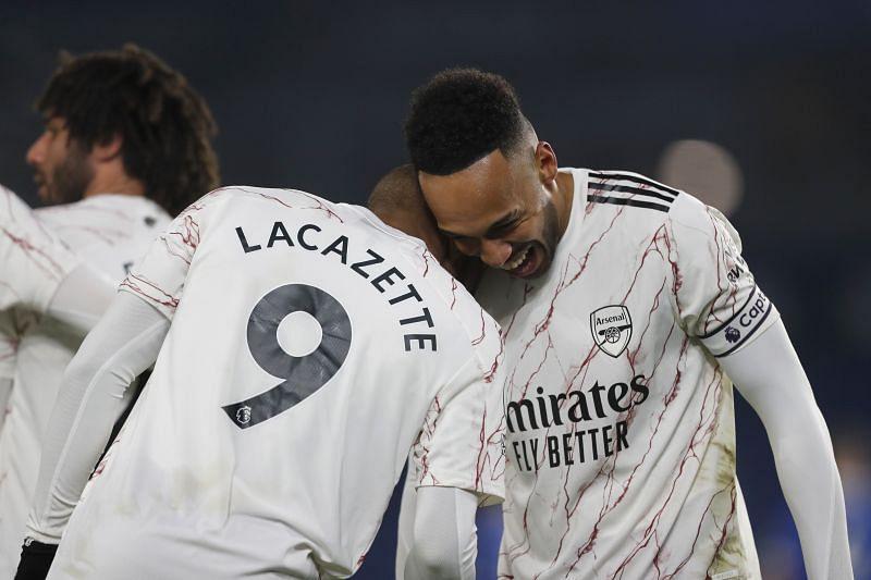 Arsenal strikers Pierre-Emerick Aubameyang and Alexandre Lacazette