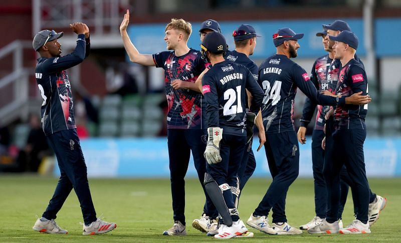Kent players during a Vitality T20 Blast match