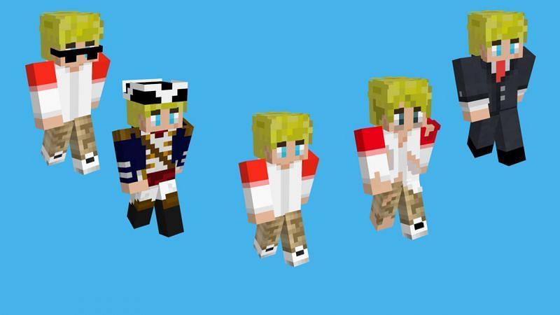 TommyInnit's various Minecraft skins