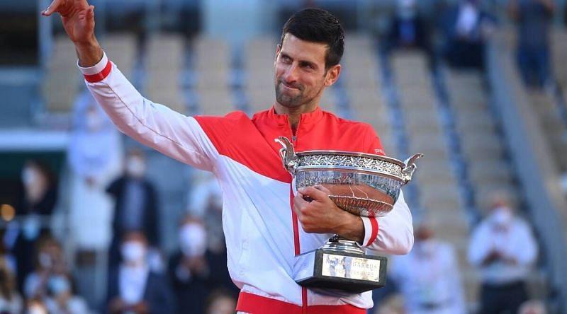 Novak Djokovic won his 19th Grand Slam title at 2021 Roland Garros