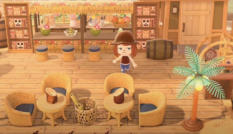 Beachside bar in Animal Crossing: New Horizons (Image via Lex Play)