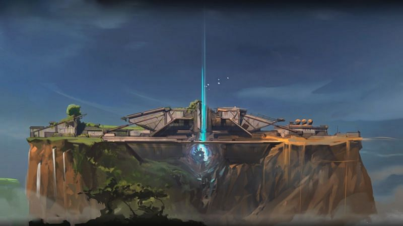 The next map might be a floating island set in Australia. (Screengrab via Valorant Year One Anthem video)
