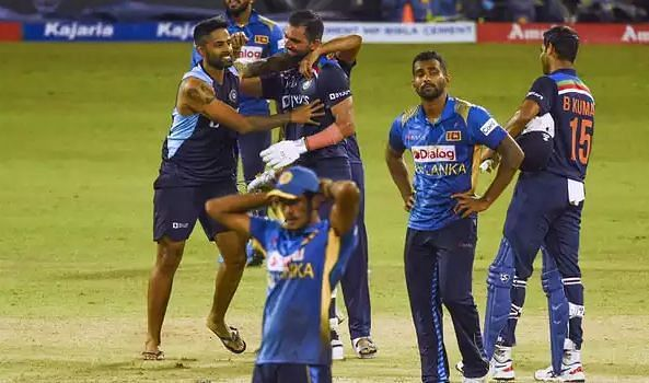 भारत की जीत के बाद निराश श्रीलंकाई खिलाड़ी