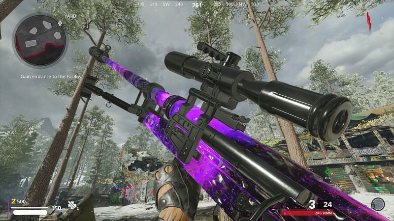 Dark Aether camo in Black Ops Cold War (Image via Twitter)