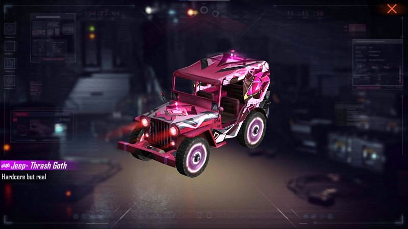 The Jeep Thrash Goth (Image via Free Fire)