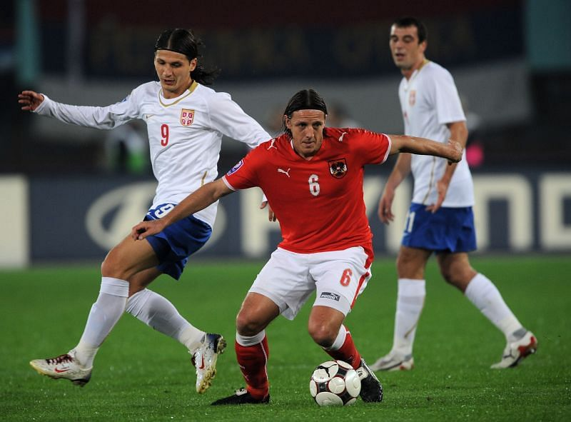 Rene Aufhauser of Austria has scored a lot of goals.