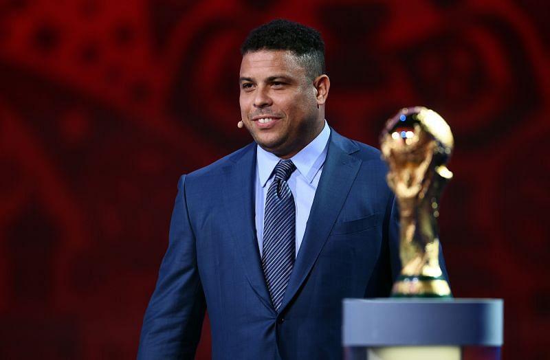 Ronaldo Nazario at the preliminary draw of the 2018 FIFA World Cup in Russia