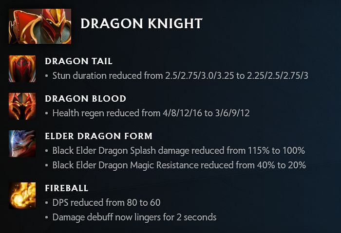 Dragon Knight changes in 7.30 (image via Valve)