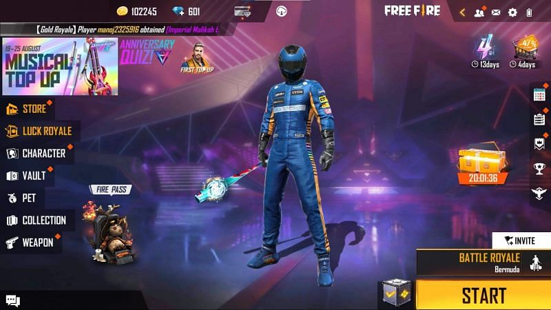 First, you should type on the membership icon (Image via Free Fire)
