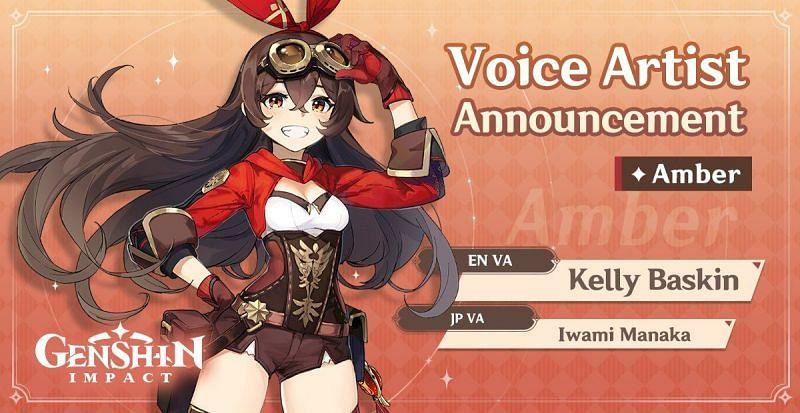Kelly Baskin voices Amber in Genshin Impact (Image via Genshin Impact)