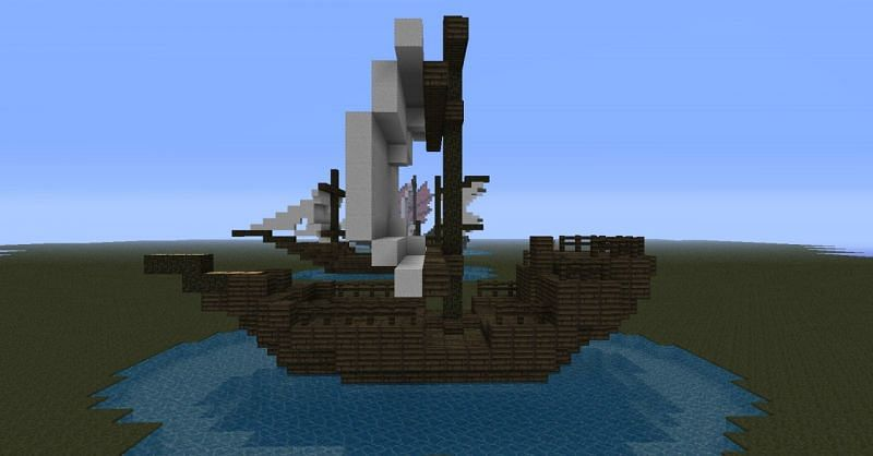 Another simple pirate ship (Image via Mojang)