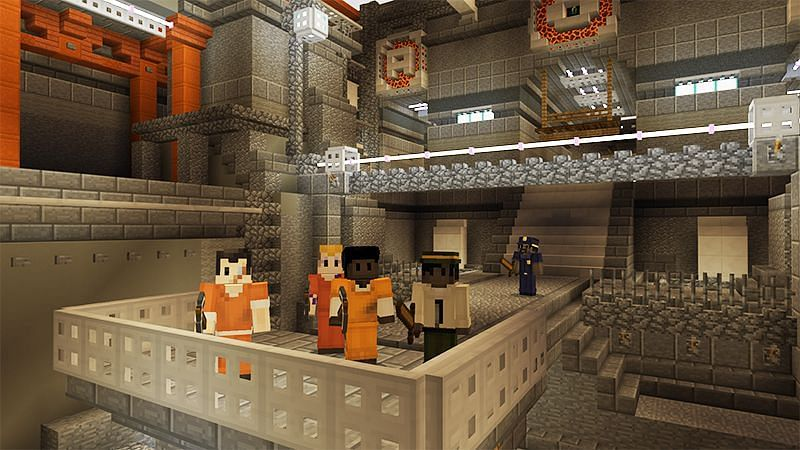 MC Prison is one of the best PVE prison experiences to be had in Minecraft (Image via Mojang)