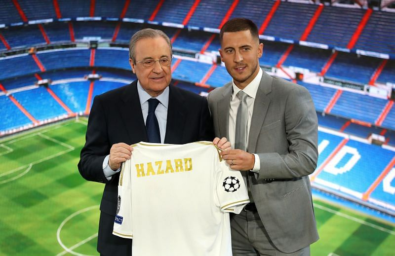 Real Madrid unveiled new signing Eden Hazard in 2019