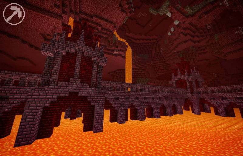 Nether Fortress (Image via Minecraft)