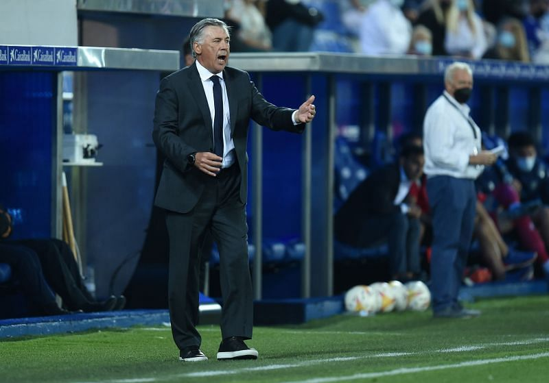 Real Madrid manager Carlo Ancelotti.