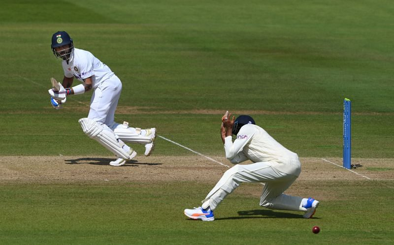Indian captain Virat Kohli looked in good touch on Day 3. Pic: Getty Images