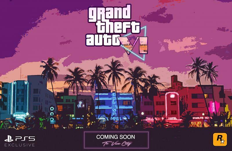 A fan-made poster concept for GTA 6 (Image via vinayakiyer, Reddit)