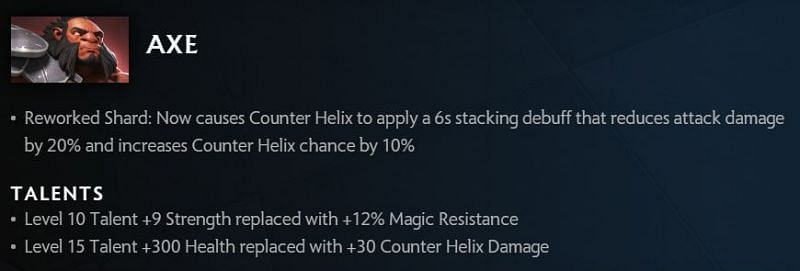 Axe changes in 7.30 (image via Valve)