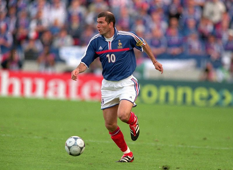 Zinedine Zidane in action for the French national side