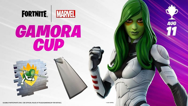 Gamora cup in Fortnite starts on August 11th (Image via Epic Games)