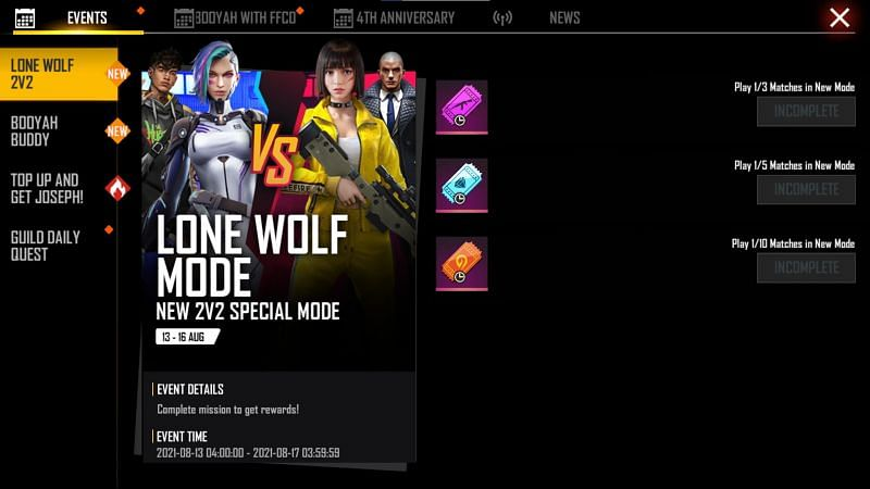 You must press the claim button besides the items to collect the rewards (Image via Free Fire)