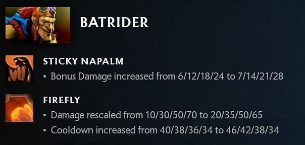Batrider changes in Dota 2 7.30 (image via Valve)