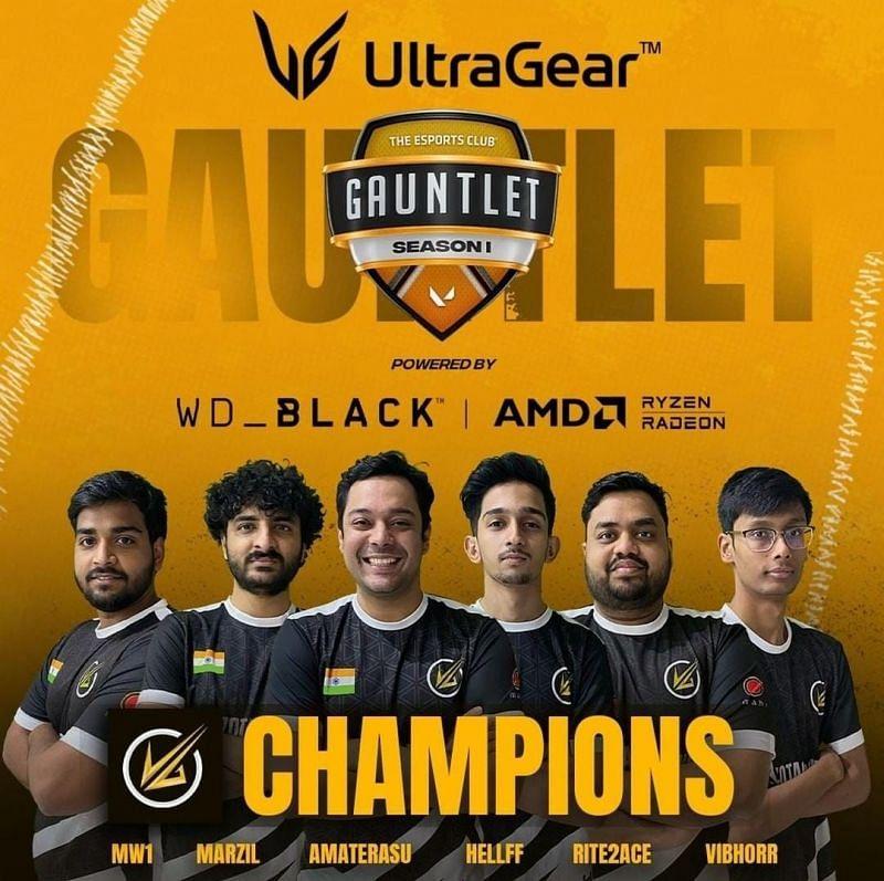 Velocity Gaming, TEC Gauntlet Season 1 Champions (Image via TEC)