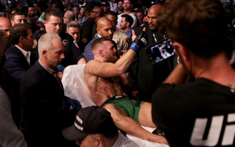 Conor McGregor suffered a leg injury at UFC 264