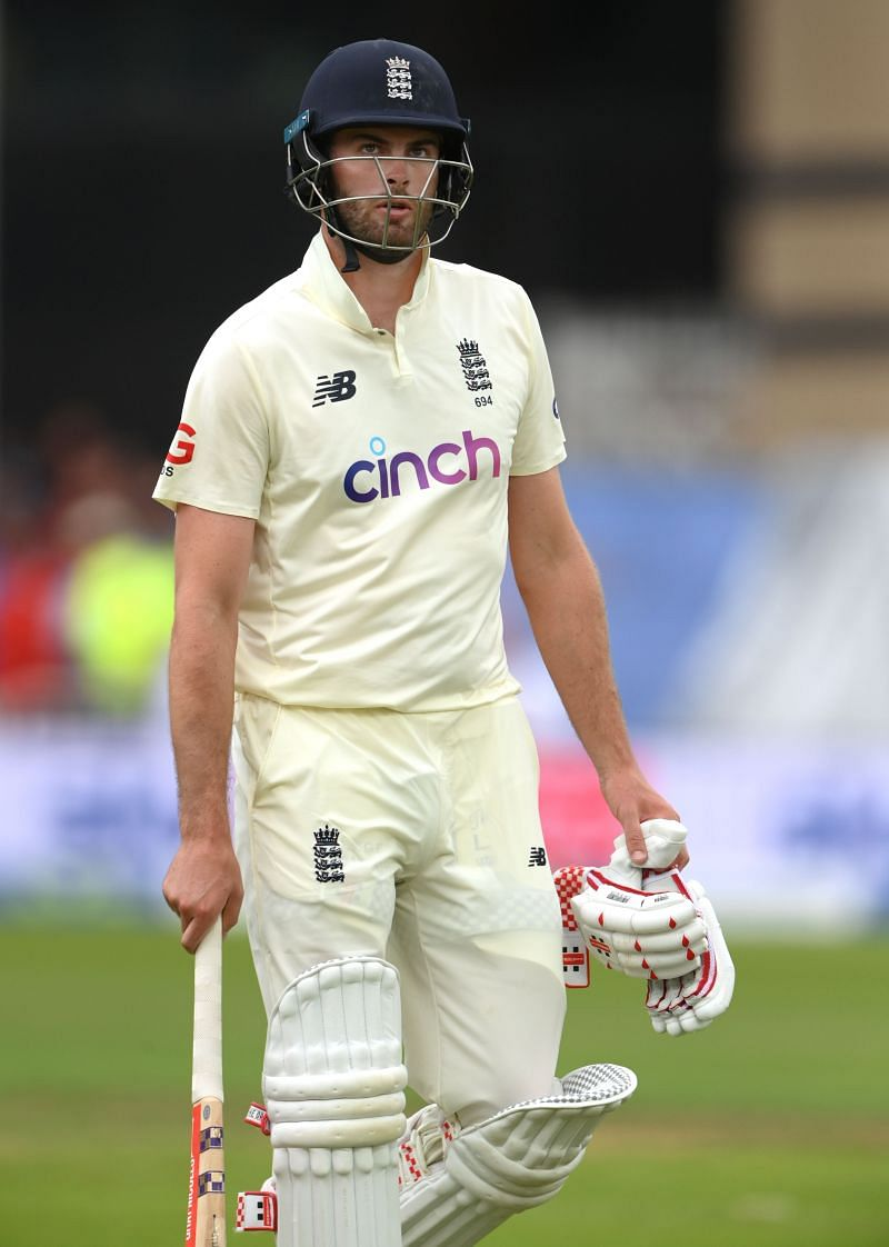 Dom Sibley during the first Test between England and India
