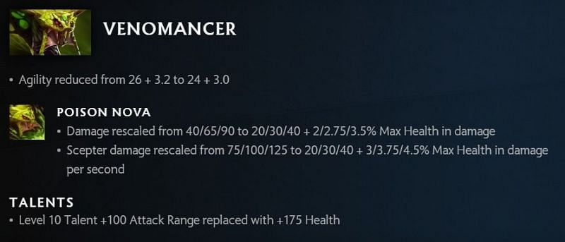 Venomancer changes in 7.30 (Image via Valve)