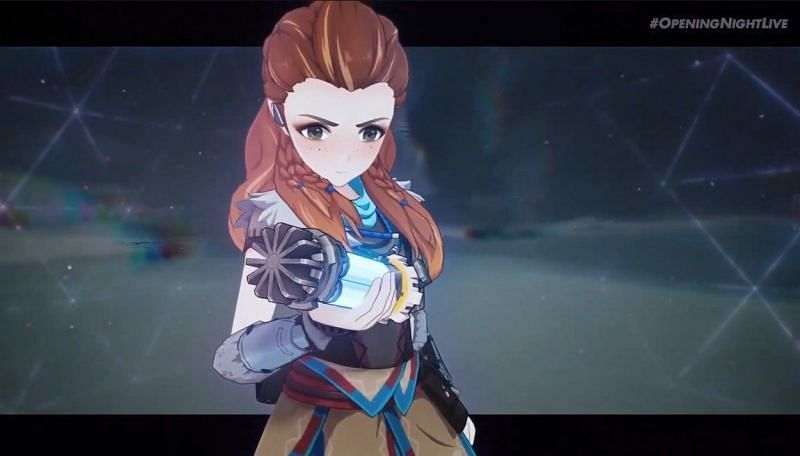 All Genshin Impact fans got was a quick trailer on Aloy and some musical stuff (Image via Gamescom)