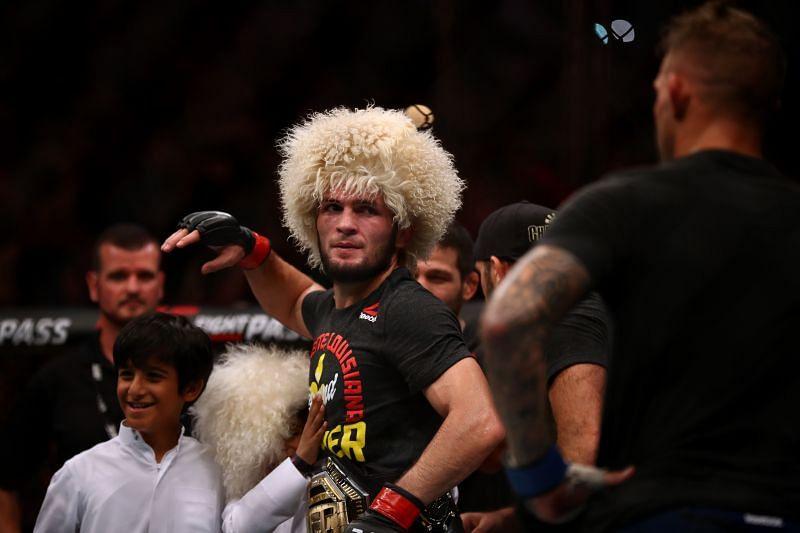 Khabib Nurmagomedov successfully defends his title. UFC 242: Khabib v Poirier