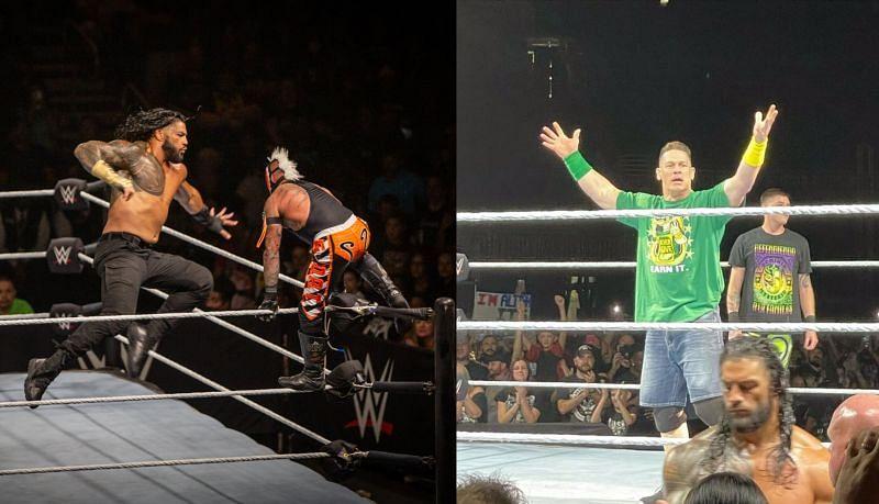 WWE Live Event में फिर हुआ जॉन सीना और रोमन रेंस का आमना सामना
