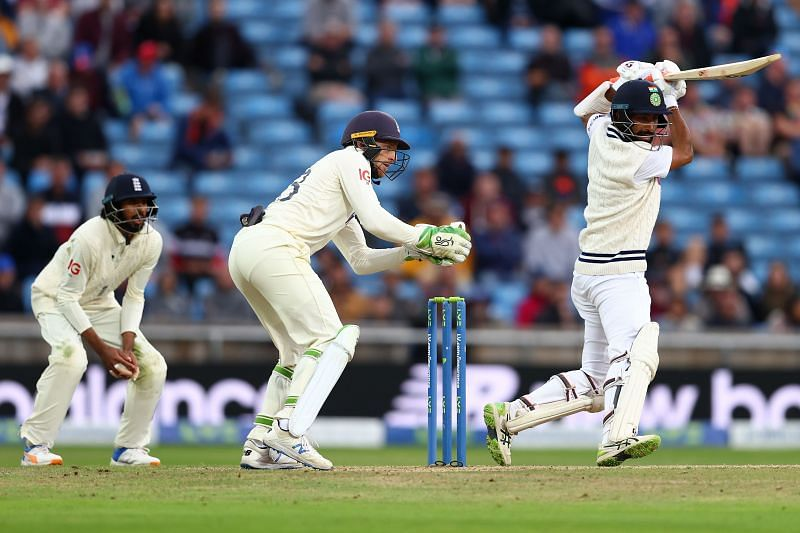 Pujara played the back foot punches into the off side well