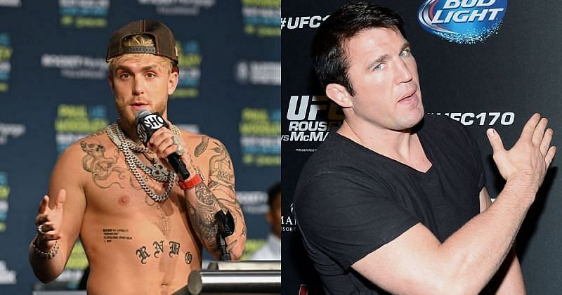 Jake Paul (left) and Chael Sonnen (right)