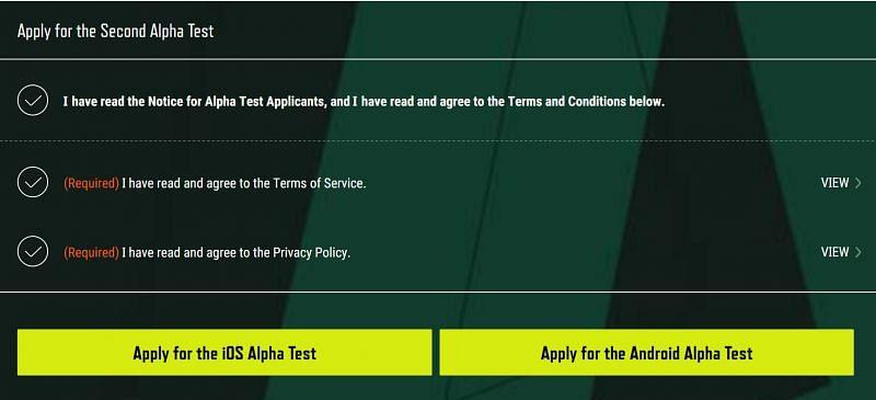 Select Platform (Image via PUBG New State)