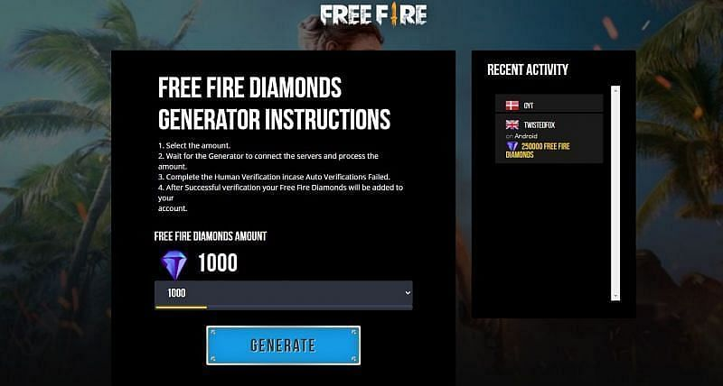 Alat Generasi Berlian Api Gratis (Gambar melalui Google)
